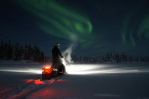 Snowmobile Safari Tour To Search For Aurora Packages