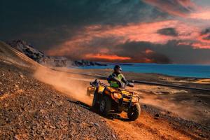 Quad Bike under Northern Lights