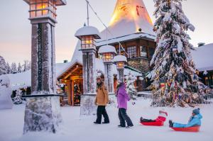 Tourists in Santa Claus Village