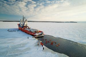 Ice breaker and floating