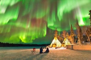 Wilderness Cabin in Northern Lights