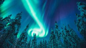 Northern Lights over arctic region