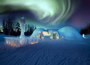Arctic Snow Castle with restaurant